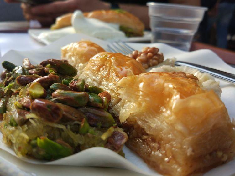 Food Ready-to-eat Turkish Dessert Dessert Baklava Tatlı  Taking Photos Bestoftheday PhonePhotography Istanbul Turkey Delicious Lezzet