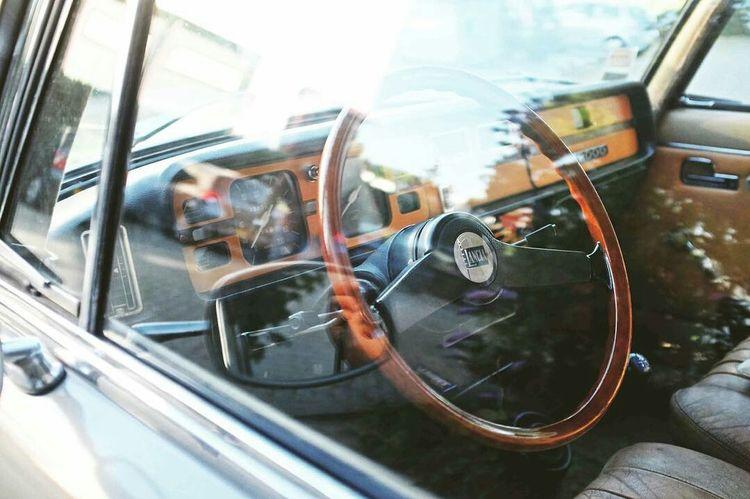 Old Lancia. Travel Window Reflection Transportation Close-up Vintage Cars Oldies Old-fashioned Vintage Lancia Dashboard