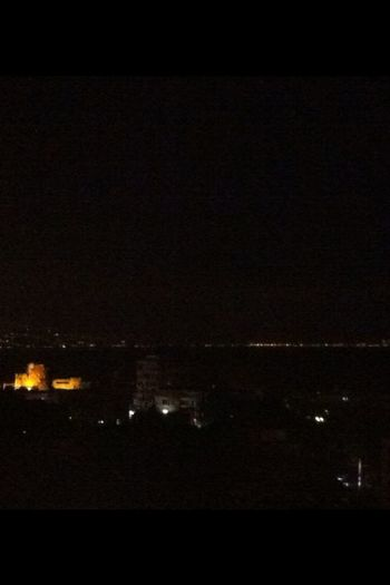 Byblos Castle And The Beirut Skyline By Night