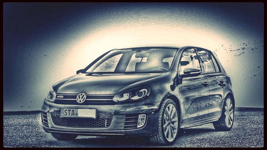 Car Volkswagen Golf GTD Blackandwhite