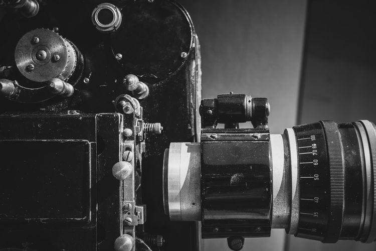 Theater movie 35mm vintage projector macro detail Film MOVIE Movie Projector Retro Black And White Black And White Photography Cinema Close-up Indoors  Movie Theater Equipment No People Old Professional Projector Technology The Past Vintage