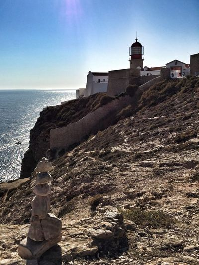Two Towers Lighthouse Southwesternmost Point Of Europe Cabo De São Vicente Cliffside Rocky Coastline Costa Vicentina Algarve From My Point Of View Portugal_lovers