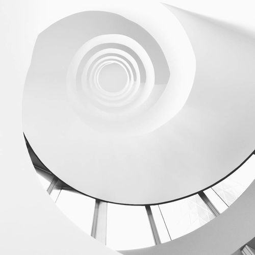German spiral staircase White Color Spiral Staircase Indoors  White Background Architecture No People Black And White Geometric Shape Architecture Staircase Minimalist Architecture