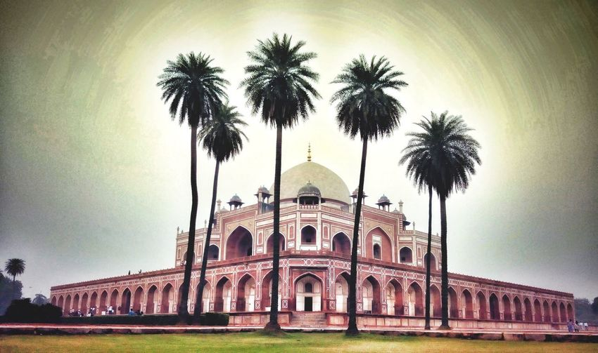 Icredibleindia Humayun'sTomb Ancient Beauty Architecture UNESCO World Heritage Site Travel Destinations Mobilephotography Travelling India Outdoors Place Of Worship Sky Religion EyeEmNewHere Eye Em Vision EyeEm Selects History