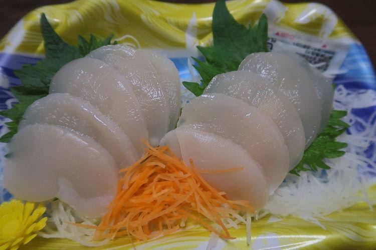 Healthy Eating Close-up Food Indoors  No People Freshness Day Sashimi Dinner Sashimi  Scapular Tairagi Chaaragi たいらぎ ちゃーらぎ 刺身 貝柱