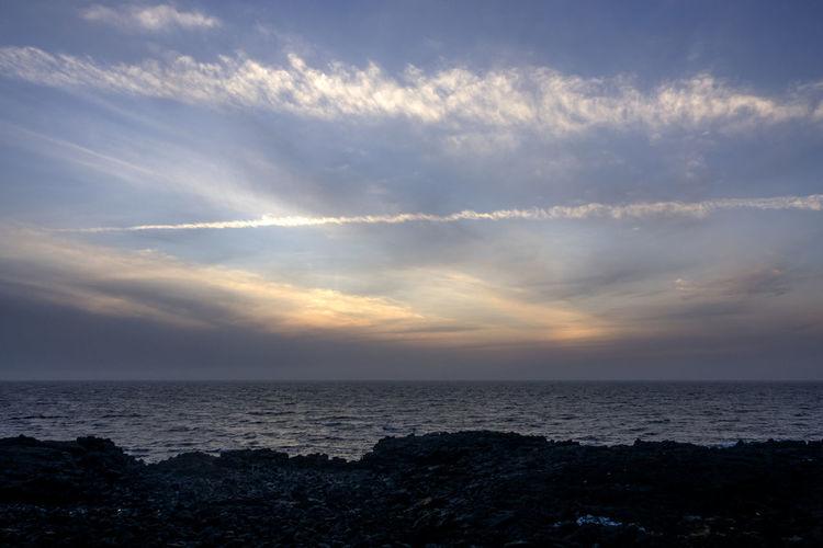 sunset of Gwangot in Jeju Island, South Korea Gwangot JEJU ISLAND  Beauty In Nature Cloud - Sky Day Horizon Over Water Idyllic Nature No People Outdoors Scenics Sea Sky Sunset Tranquil Scene Tranquility Water