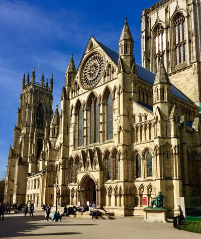 Rose Window City Architecture Building Exterior Travel Destinations Built Structure Day Sky Outdoors Religion Place Of Worship Architecture York Minster  York North Yorkshire