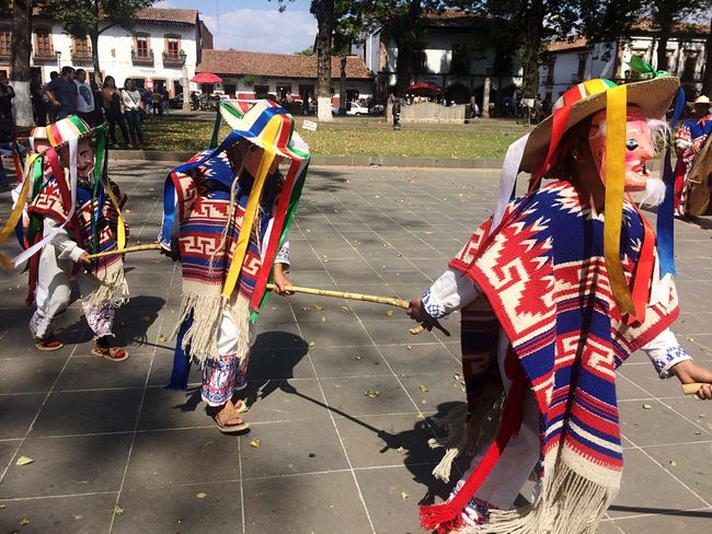 Folk Dance Folk Dancers Unrecognizable People Real People Large Group Of People City Outdoors Men Day Architecture People Patzcuaro Michoacan, México Old Men Dance Public Space Public Square