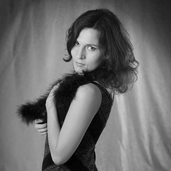 Retrostyle Portrait Of A Woman Vintagestyle