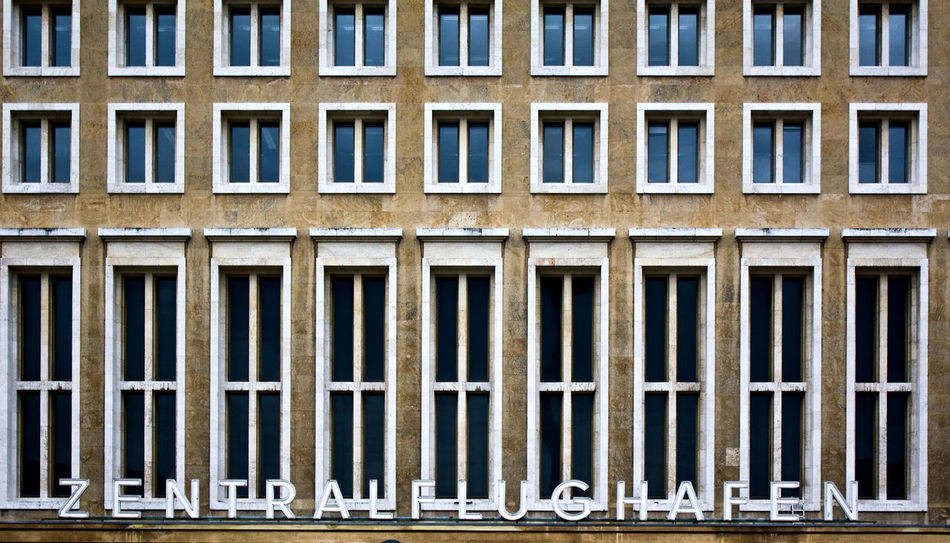 Airport Architectural Detail Architecture Architecture_collection Berlin Tempelhof Berliner Ansichten Building Exterior Built Structure Geometry Pattern, Texture, Shape And Form Structures & Lines Symmetry Window