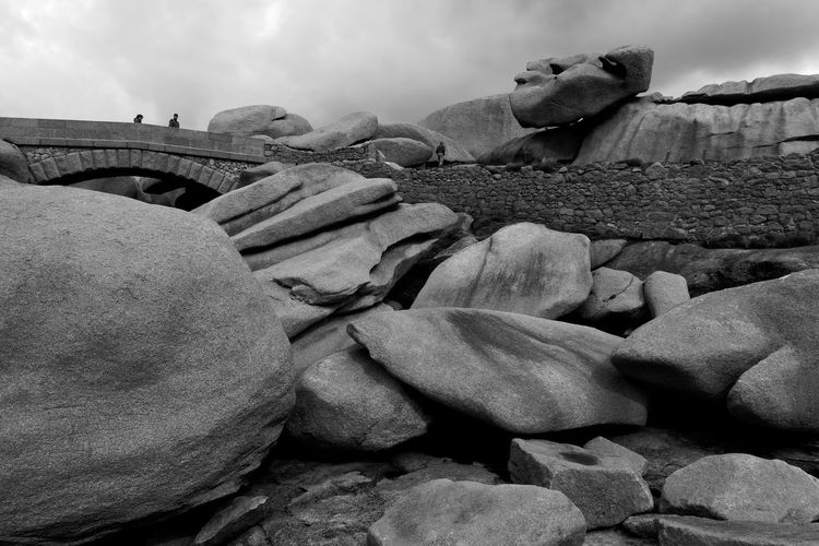 Troy for beginners Brittany Cote De Granit Rose Massive Nature Power Of Nature Titanic Beauty In Nature Blackandwhite Coast Day France 🇫🇷 French Incredible Nature Outdoors Physical Geography Rock - Object Sky