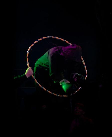 Circus Black Background Circusartist Circuslife Close-up Dark Indoors  Motion Multi Colored