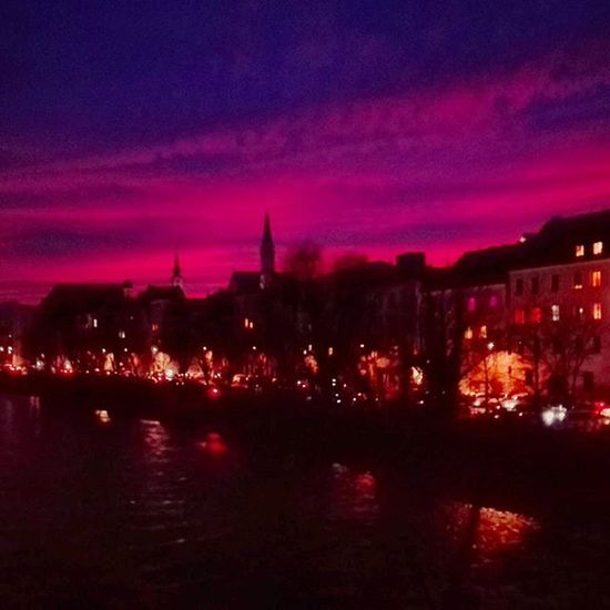 Steyr Austria Oberösterreich Upperaustria Sonnenuntergang Sunset Citylife Cityscape Pink Cities At Night