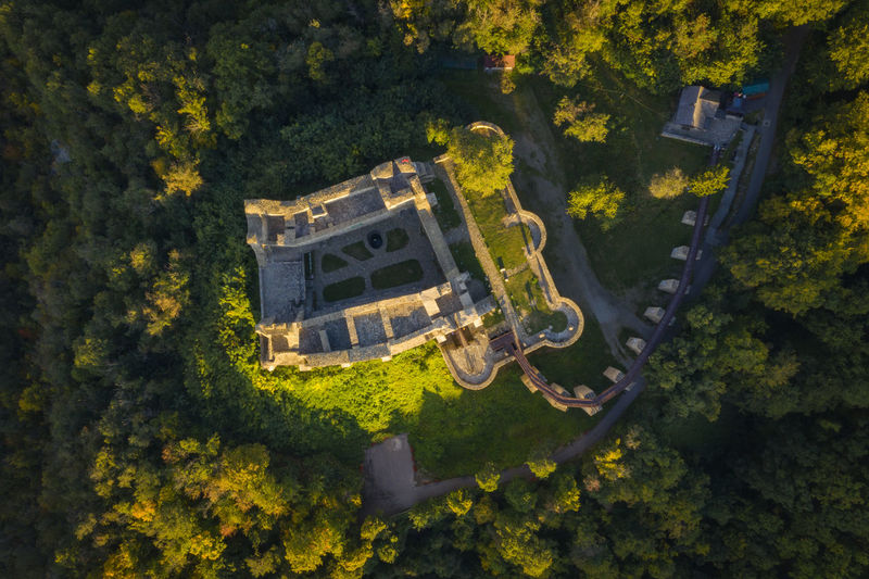 Aerial view of Neamt Citadel-Romania, Targu Neamt. Autumn Sunrise Romania Mediaval Architecture Forest Aerial Architecture Neamt Citadel EyeEmNewHere Beauty In Nature Day High Angle View Nature No People Outdoors Plant Scenics - Nature Tranquility Tree Tree Nature Autumn Aerial View