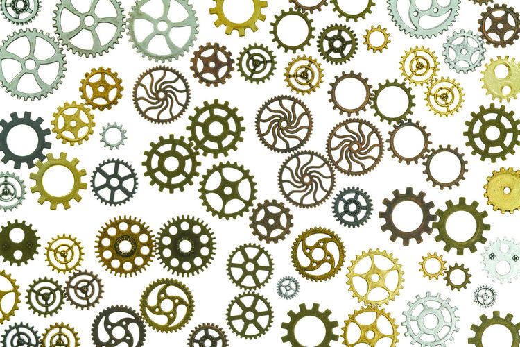 gears Abundance Animal Animal Themes Backgrounds Biology Close-up Design Full Frame Gear Green Color Growth Healthcare And Medicine Indoors  Large Group Of Objects Nature No People Pattern Science Shape Steampunk Studio Shot White Background