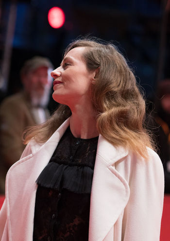 Berlin, Germany - February 24, 2018: Belgian actress Cecile de France attends the closing ceremony during the 68th Berlinale International Film Festival Berlin at Berlinale Palast AWARD Closing Ceremony Film Festival Portrait Of A Woman Woman Actress Arts Culture And Entertainment Belgian  Berlinale Berlinale 2018 Berlinale Festival Berlinale2018 Cecile De France Entertainment Entertainment Event Mass Media One Person People Portrait Posing Posing For The Camera Red Carpet Red Carpet Event Standing