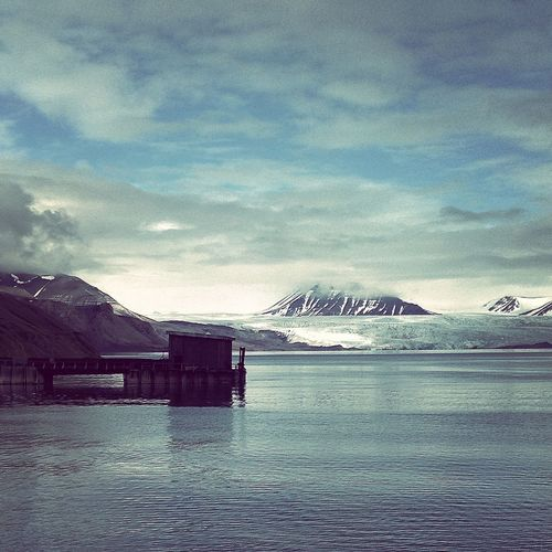 The Calmness Within Svalbard  Piramiden Ice