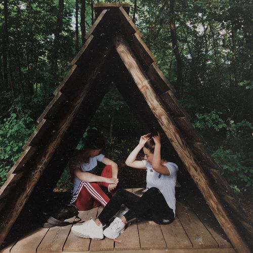 Aesthetic Aesthetics Grunge Cool Tumblr Adidas Ootd Tree Real People Plant Full Length Sitting Lifestyles Leisure Activity Nature Day People Young Women Lying Down Sunlight Casual Clothing Young Adult Women Two People Adult Togetherness Outdoors