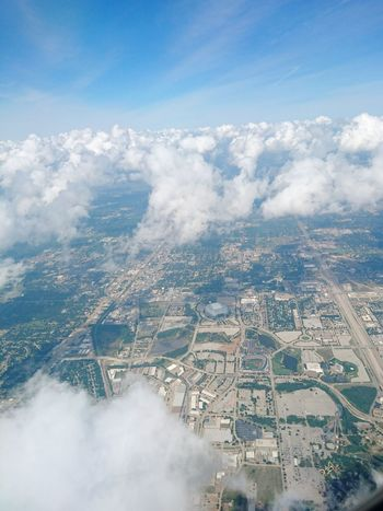 City Aerial View Cloud - Sky Outdoors No People Landscape Stadium BallPark Airplaneview Airplane Window View Arlington, Tx Cloudy
