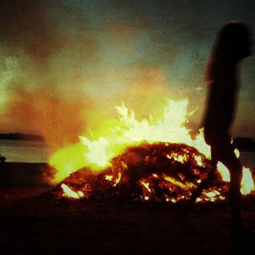 Beach IPhoneography NEM Memories Fire Walk