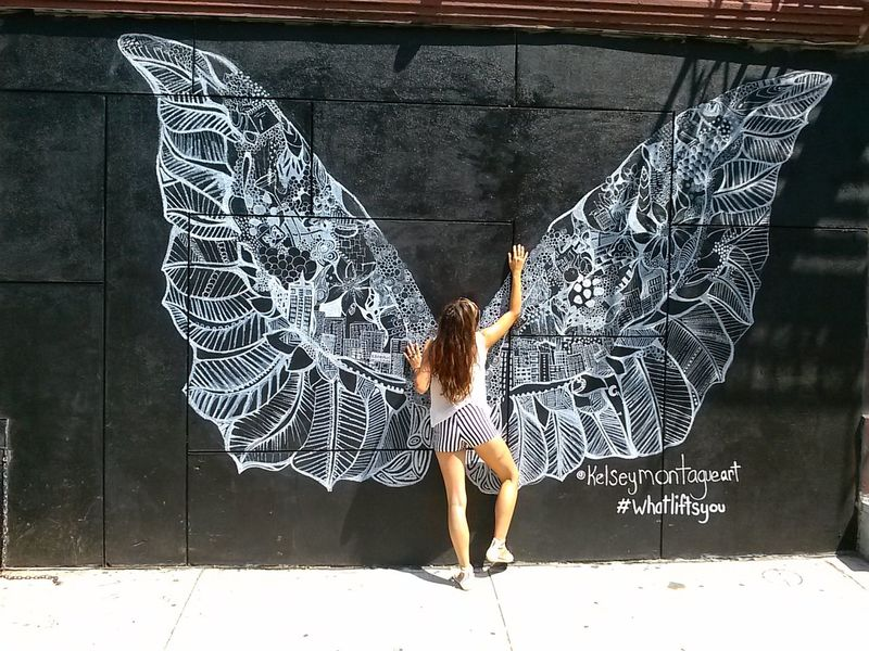 Writing On The Walls Whatliftsyou Kelseymontague Freebird grafitti at kenmore & mott SoHO NYC