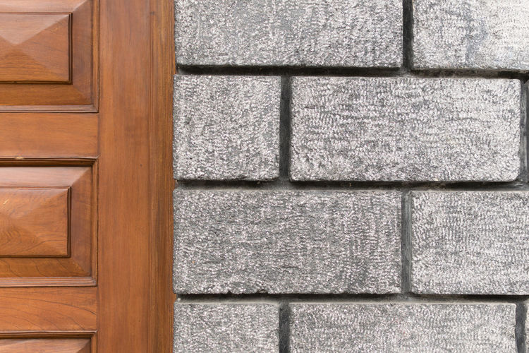 Architecture Backgrounds Brown Close-up Day Door Full Frame Geometric Shapes Gray Minimalist Architecture No People Outdoors Pattern Rectangle Rule Of Thirds Simetry Street Streetphotography Textured  Textures And Surfaces Wall Wood Wood - Material