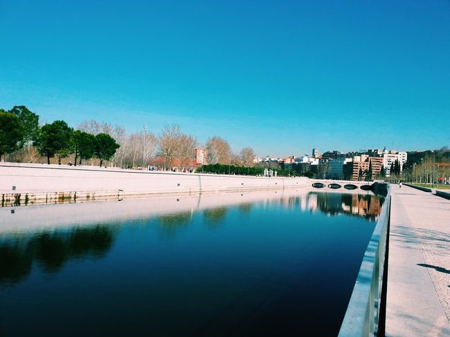 Manzanares, Madrid Manzanares Madrid SPAIN River Water Clear Sky Daylight Tree Nature Outdoors City Buildings Reflection Traveling Travel Destinations