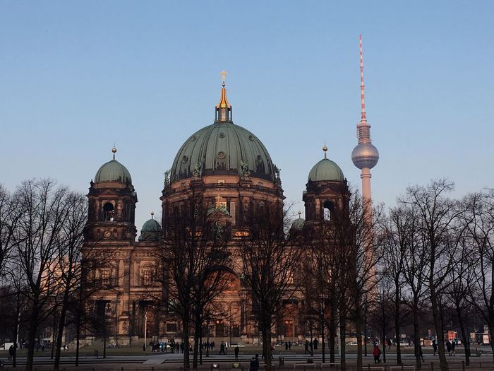 Architecture Religion Dome Travel City Tourism No People Winter Blue Sky City View  Berlin Berliner Fernsehturm Berlin View