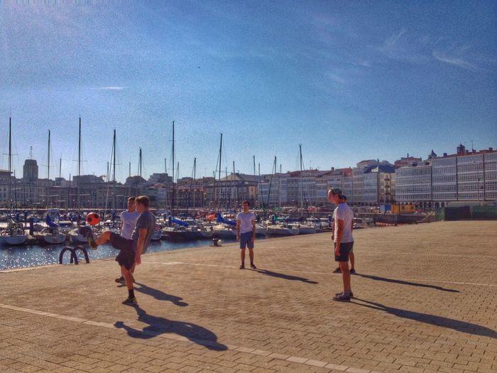 A Coruña La Coruña Galicia Balancing Act Light And Shadow