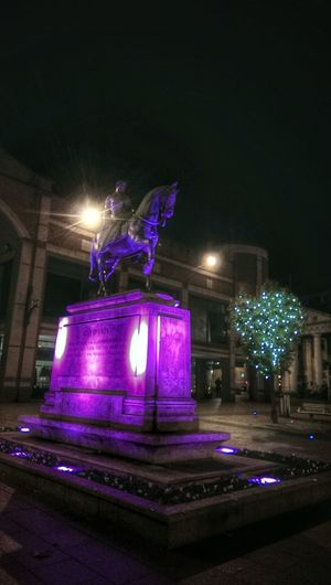 Sculpture Lady Godiva Nightphotography Historical Monuments Purple Lights Eluminated Famous People Historical Landmarks Carving Coventry