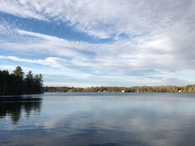 Oh what a beautiful day 😍 Lake Tranquility Tranquil Scene Beauty In Nature Scenics No People Nature Outdoors Waterfront Sky Maine Lakeside