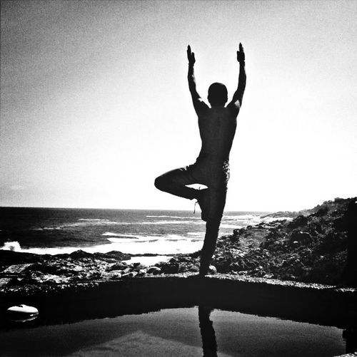 ?yoga frente al mar ? Yoga Black & White Zapallar EyeEm