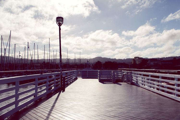 Harbour Marina Sky Cloud - Sky Street Light Railing Nature Day No People Footpath Outdoors Direction The Way Forward Transportation Tranquil Scene Empty