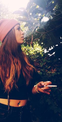 Cigarrete Smoke Smoking Hair Woman Nature Addiction Thoughts Lost Only Women One Woman Only Adult One Person Adults Only People Women Human Hand Day One Young Woman Only