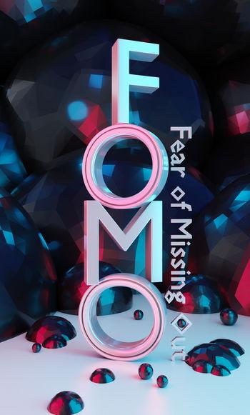 Fomo word as 3D