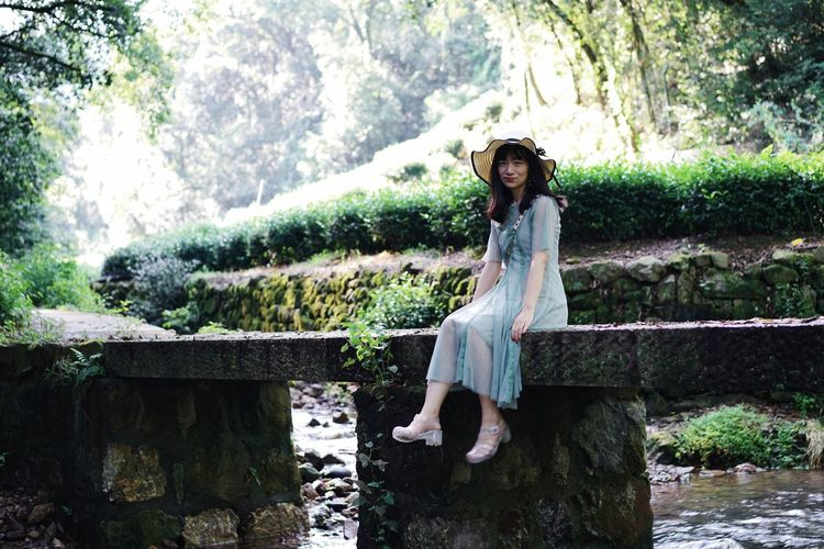 ThatsMe Sitting Portrait Of A Woman Portrait Beauty In Nature One Person Water Nature Lifestyles Sunlight Leisure Activity