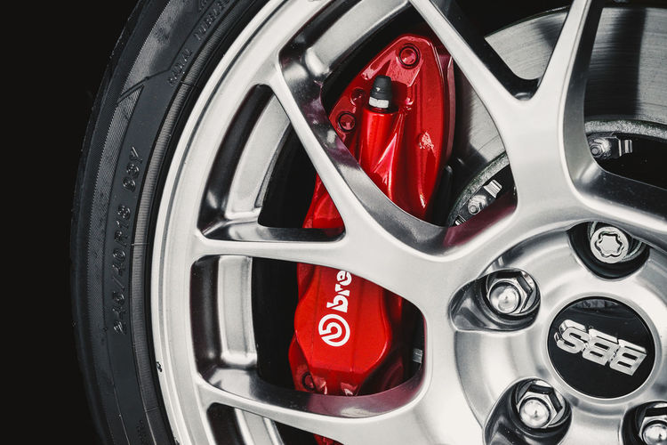 Brembo! Cars Automobile Brake Wheel Tire Red Rims Caliber