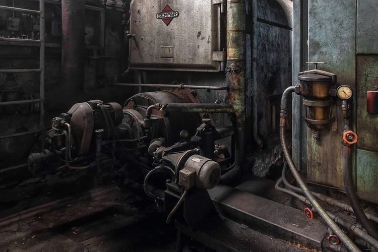 Abandoned electric motor in industry