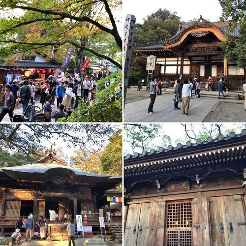 お参りの人が多し。紅葉には、二週間ほど先かな。 Temple Temple - Building 調布市 深大寺