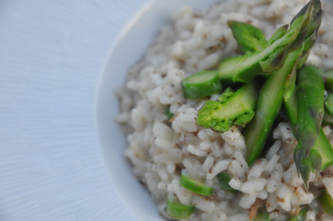 risotto aux asperges Risotto Asparagus Green Homemade Bowl Close-up Day Food Food And Drink Freshness Fried Rice Garnish Healthy Eating Indoors  No People Ready-to-eat Rice - Food Staple Serving Size Slowfood Vegetable