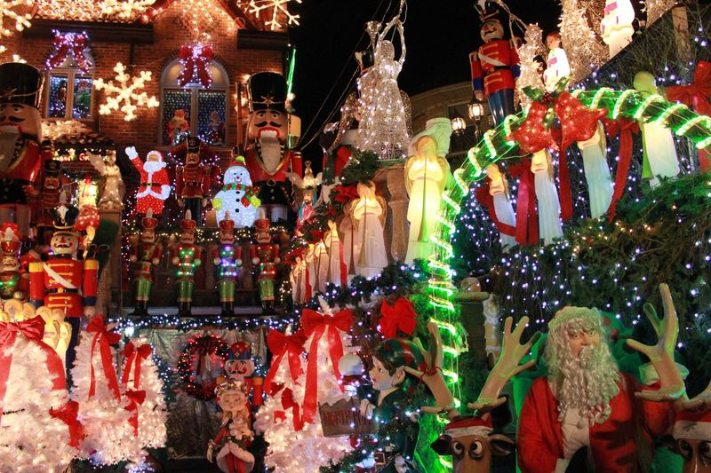 Brooklyn over doing it? The Culture Of The Holidays Brooklyn NYC Christmas Lights USA Culture