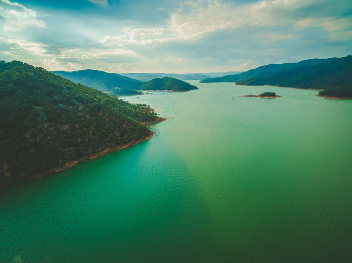 Breathtaking aerial view of Lake Eildon in Australia Australia Australian Australian Landscape Drone  Nature Scenic View Aerial Aerial View Beauty In Nature Cloud - Sky Dam Day Drone Photography Eildon Lake Lake Eildon Landscape Mountain Nature Nautical Vessel No People Outdoors Park Scenics Sea Sky Tranquil Scene Tranquility Travel Destinations Water Waterfront