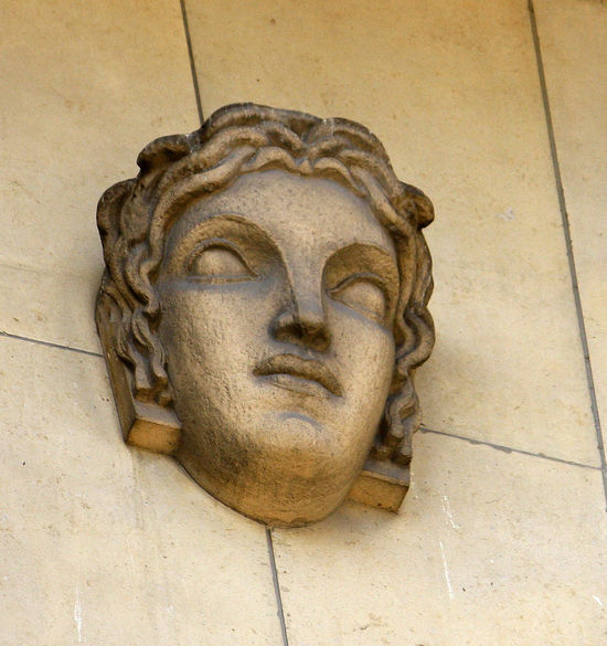 A Taste Of Paris Architecture Art And Craft Building Exterior Close-up Day Lion - Feline Marble No People Outdoors Sculpture Statue Wall Plaque Face On A Wall No Eyes Stony Face
