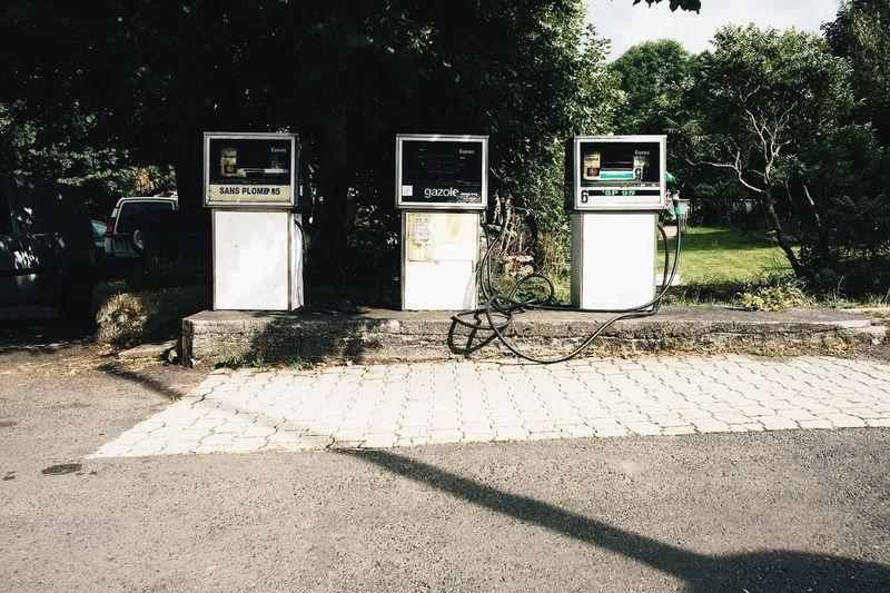 Gaz Station Vintage Gaz Gas Station Fuel Auvergne France La France Vraie