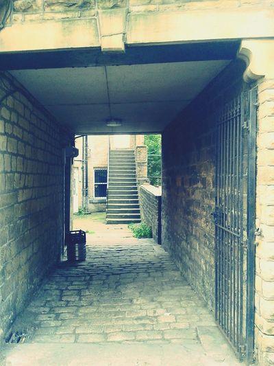 Cobblestones Pub Firehouse Gate Passageway Blacksmith Shop Blacksmith  Stone Steps Iphoneographyhi Sowerby Bridge