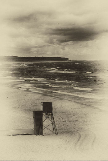 In the vein of '20s lifeguard way Baywatch Beauty In Nature Calm Cloud Cloud - Sky Cloudy Horizon Over Water Idyllic Nature No People Non-urban Scene Ocean Outdoors Overcast Remote Rippled Scenics Sea Seascape Sky Time Machine Tranquil Scene Tranquility Water Weather
