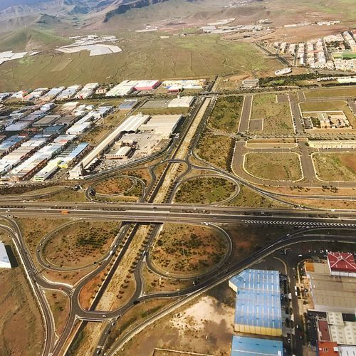 Interchange  Gran Canaria Intersection Freeway Highway No People Water Day Building Exterior Built Structure Architecture High Angle View Aerial View Transportation City Nature Landscape Environment Outdoors Industry Road Cityscape
