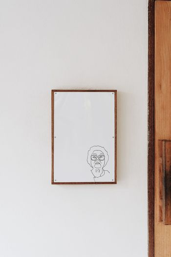 Architecture Art And Craft Blank Close-up Copy Space Creativity Design Drawing - Art Product Frame Geometric Shape Human Representation Indoors  No People Paper Picture Frame Representation Shape Still Life Wall - Building Feature White Color Wood - Material