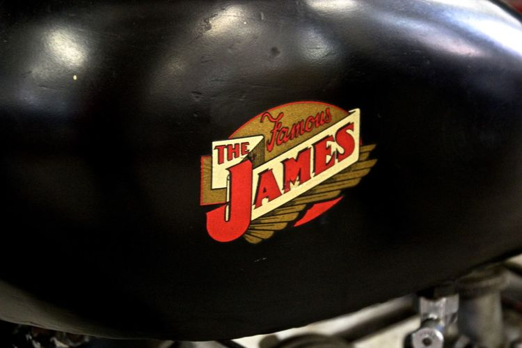 Classic Close-up James Moto Moto Motorcycle Motorcycle Details The James Moto Vintage Photo