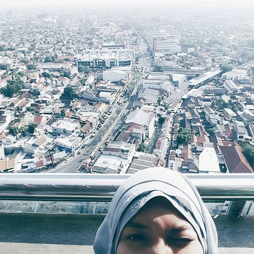 I'm bad at caption Rooftop Semarang Selfie Girl Hijab Imbadathashtags